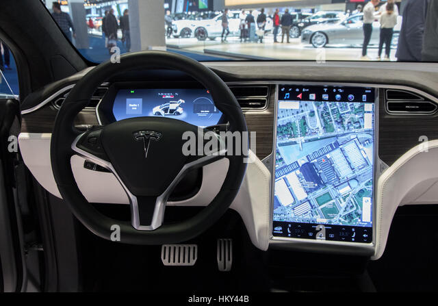 Tesla Model X Interior Stock Photos & Tesla Model X Interior Stock ...