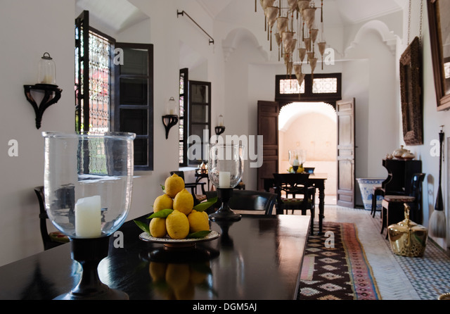 Table marrakesh stock photos table marrakesh stock for Well known interior designers