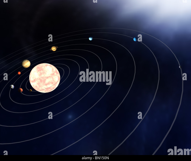 drawing of planets in solar system - photo #22