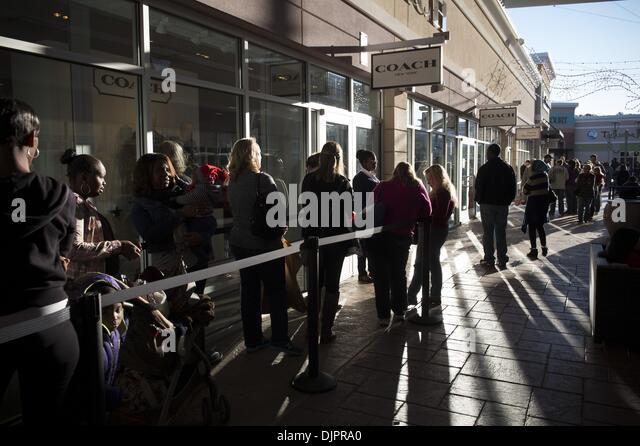 coach factory outlet near me a6da  Woodstock, GA, USA 29th Nov, 2013 Shoppers queue outside a Coach