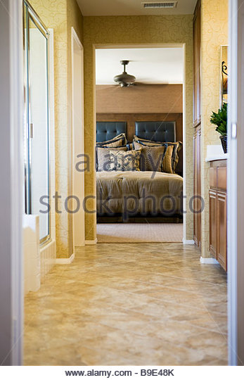 Doorway bed stock photos doorway bed stock images alamy Hallway to master bedroom