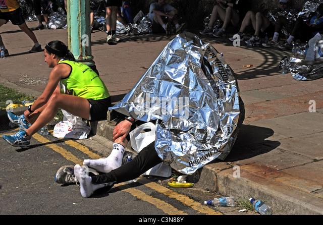 Marathon Runner Exhausted Stock Photos & Marathon Runner ...