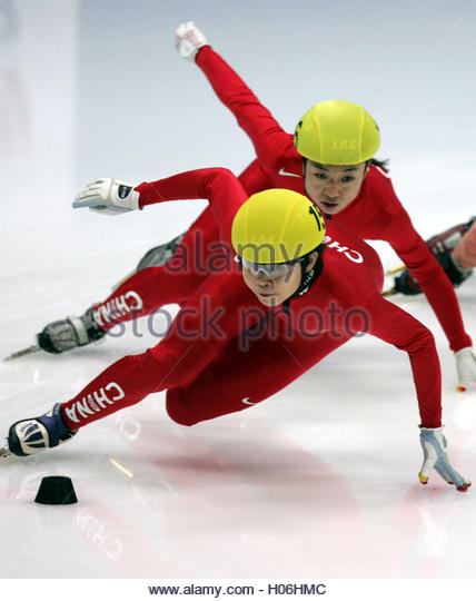 Meng Wang Of China Front And Her Compatriot Tianyu Fu Compete During Stock Photos Images Alamy
