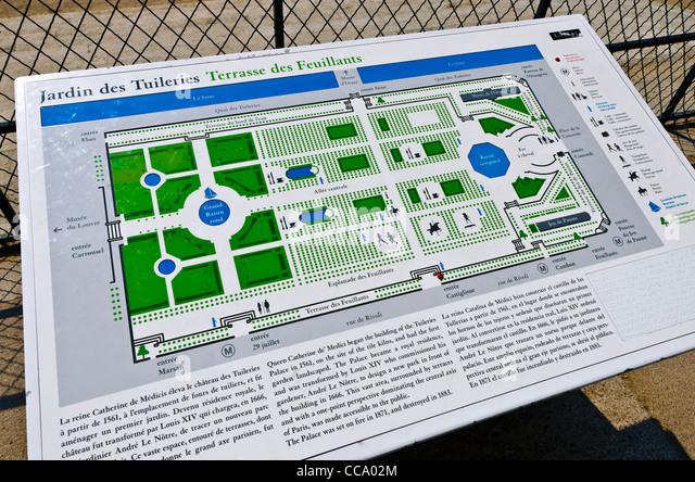 Tuileries Garden Map