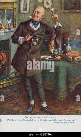 david copperfield charles dickens stock photos david copperfield  mr micawber makes punch david copperfield charles dickens date circa 1910s stock
