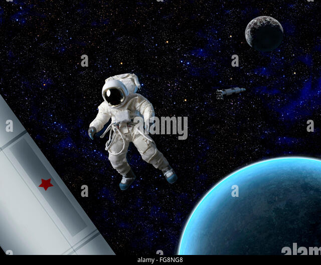 an astronaut floating in space - photo #18