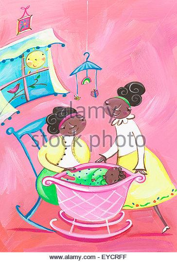 Grandmother Rocking Chair Stock Photos & Grandmother Rocking Chair ...