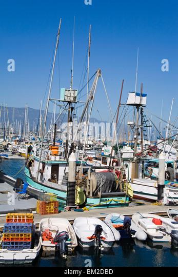 California port harbor stock photos california port for Santa barbara fishing