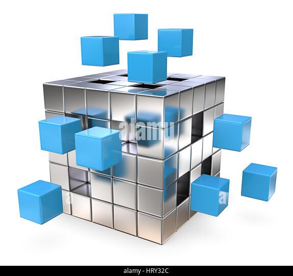 Metal Cube Stock Photos & Metal Cube Stock Images