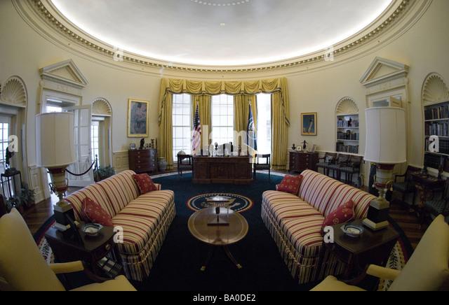 Oval Office William Clinton Presidential Stock Photos Oval