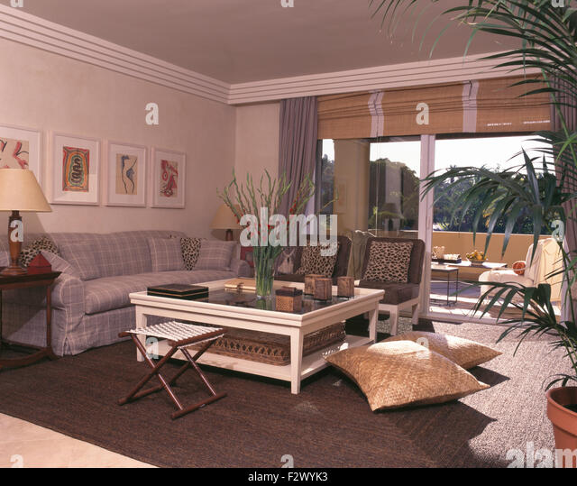 living room in traditional spanish stock photos & living room in