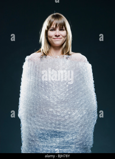 Person Wrapped Bubble Wrap Stock Photos Amp Person Wrapped
