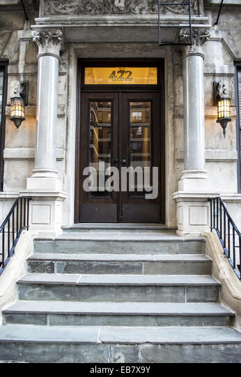 Apartment Building Front Door eb7x9y stock photos & eb7x9y stock images - alamy