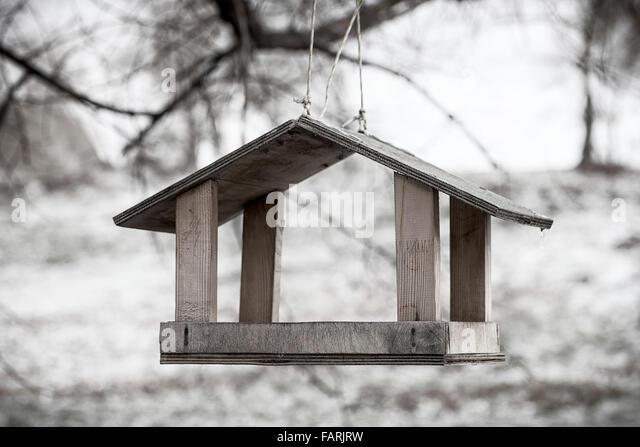 Wood Bird Shelter : Shelter refuge stock photos images
