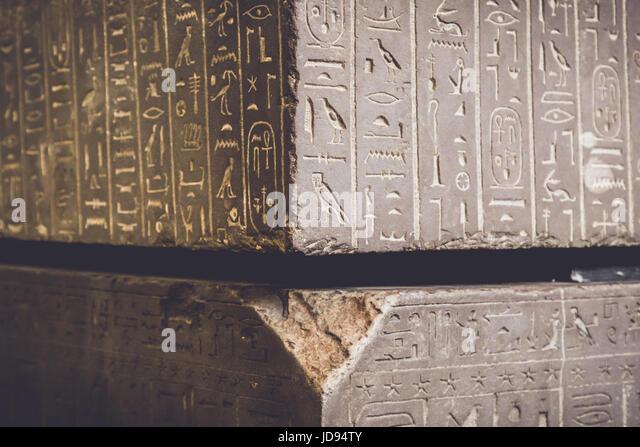 Egyptian sarcophagus symbols