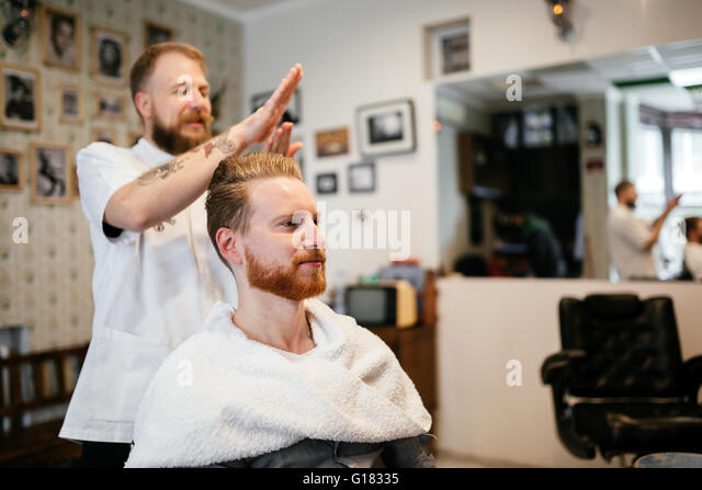 barber shaving grooming men in stock photos barber. Black Bedroom Furniture Sets. Home Design Ideas