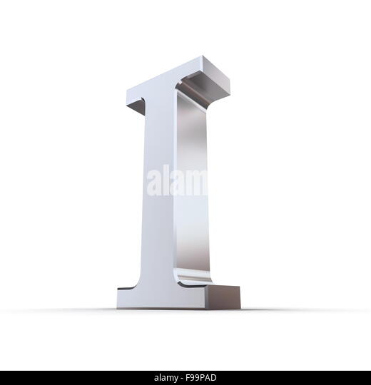 Roman numeral cut out stock images pictures alamy metallic roman numeral 1 stock image thecheapjerseys Image collections