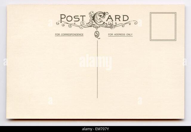 Vintage Postcard Back Stock Photos & Vintage Postcard Back Stock