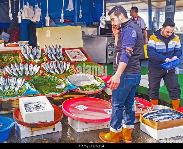 Crowded fish market stock photos crowded fish market for Central fish market