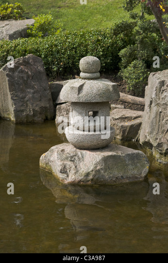 Japanese water feature stock photos