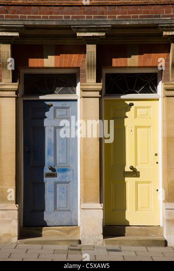 Front door uk neighbour stock photos front door uk for Door 43 sheffield