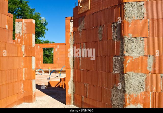 New House Construction Site Using Bouyer Leroux Bio Bricks