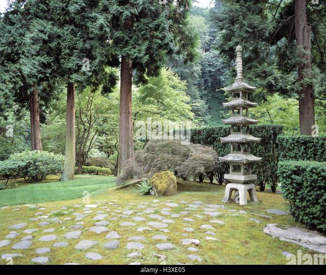 Portland Japanese Garden Stock Photos Portland Japanese Garden Stock Images Alamy