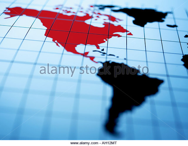 Map western hemisphere stock photos map western hemisphere stock map of western hemisphere highlighting north america stock image gumiabroncs Gallery