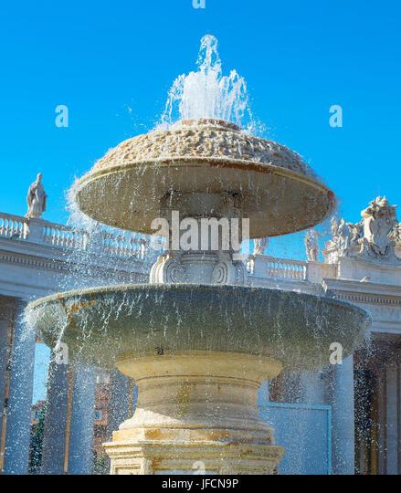 Vatican famous fountan - Stock Image