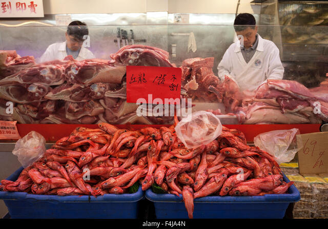 San francisco chinatown food stock photos san francisco for Fish store san francisco