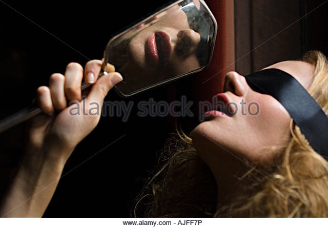 Blond Man Is Blindfolded