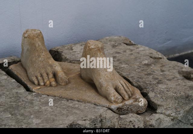 Samos Greece Samos Archaeological Museum Stock Photos ...