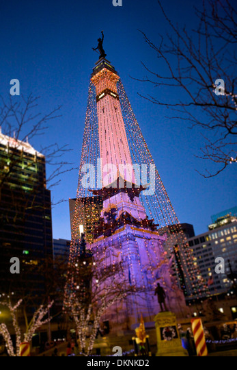 the soldier and sailor monument in downtown indianapolis indiana dressed in christmas lights for the - Christmas Lights Indianapolis