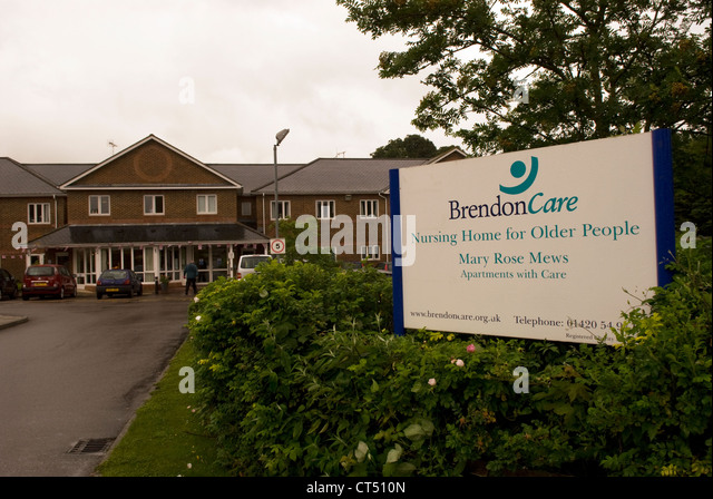 General View Of Brendon Care Nursing Home For The Elderly Alton Hampshire UK