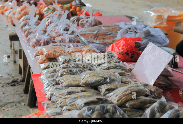Seafood market china stock photos seafood market china for Village fish market