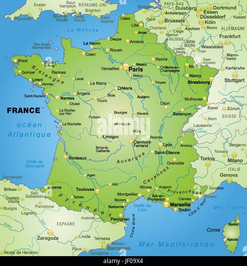 Map of france stock photos map of france stock images alamy card atlas map of the world map france border card gumiabroncs Image collections