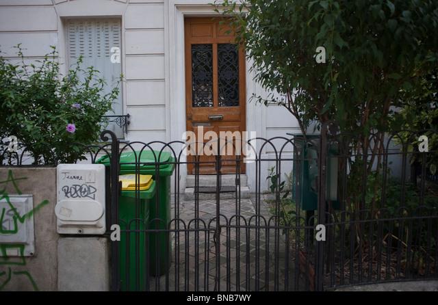 Apartment Building Front Door parisian apartment building front entrance door stock photos