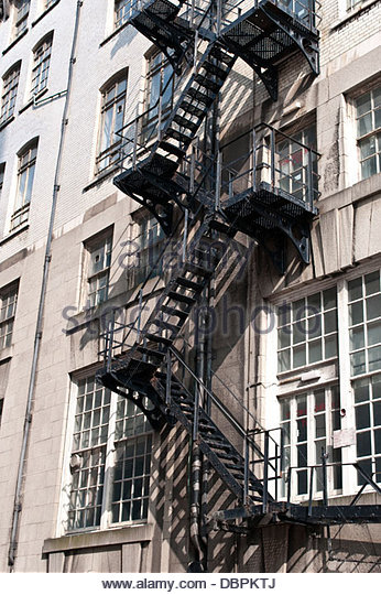 Fire Escape Stairs, Liverpool, UK   Stock Image