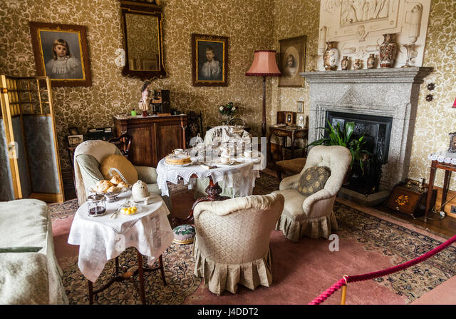 A Sitting Room / Living Room / Apartment Set For Afternoon Tea At  Lanhydrock, Bodmin Part 34