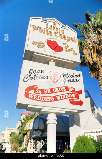 united states of america nevada las vegas drive through wedding chapel stock image