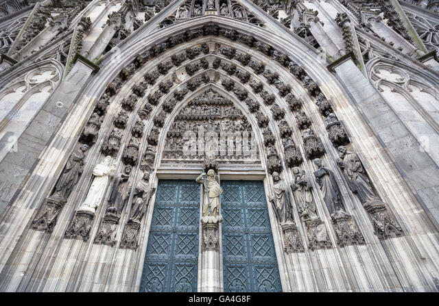 A Portal of Cologne Cathedral Germany - Stock Image & Cologne Cathedral Doors Stock Photos \u0026 Cologne Cathedral Doors ...
