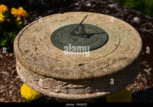 A Typical Garden Sundial   Stock Image