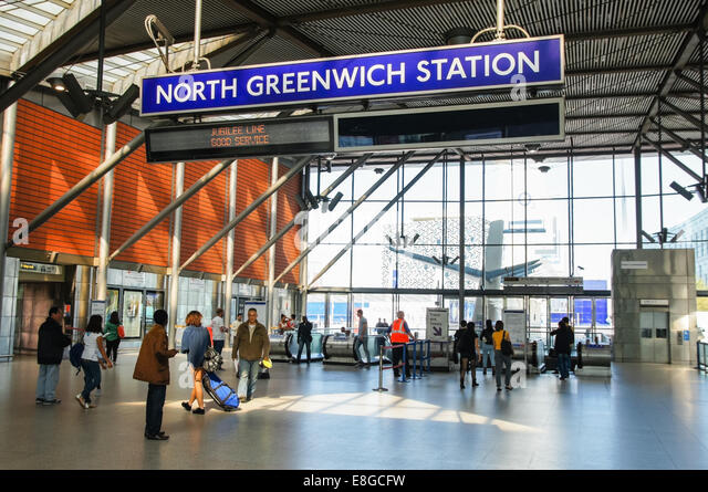 north greenwich station stock photos north greenwich. Black Bedroom Furniture Sets. Home Design Ideas