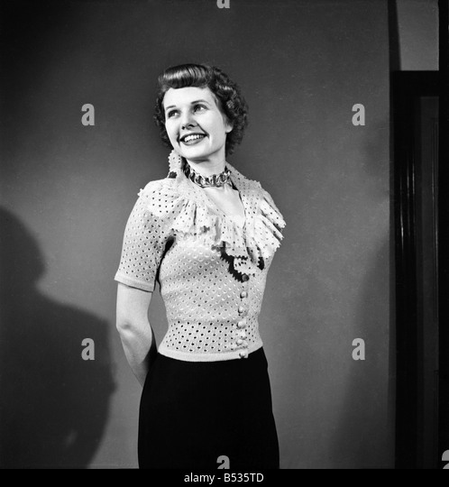 Sheila sim is wearing frilly jarnpon blouse february 1952 c6324