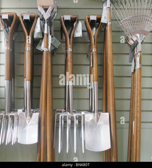 Wooden handles garden tools stock photos wooden handles for Good quality garden tools