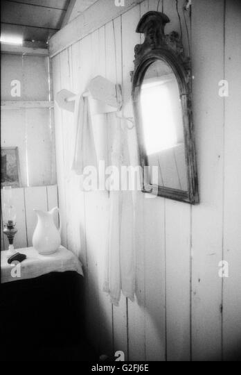 Rustic Black and White Stock Photos amp Images Alamy : rustic bathroom with old fashioned mirror g2fj6e from www.alamy.com size 348 x 540 jpeg 22kB