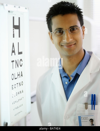 Chart Used In An Optometrist S Examining Room