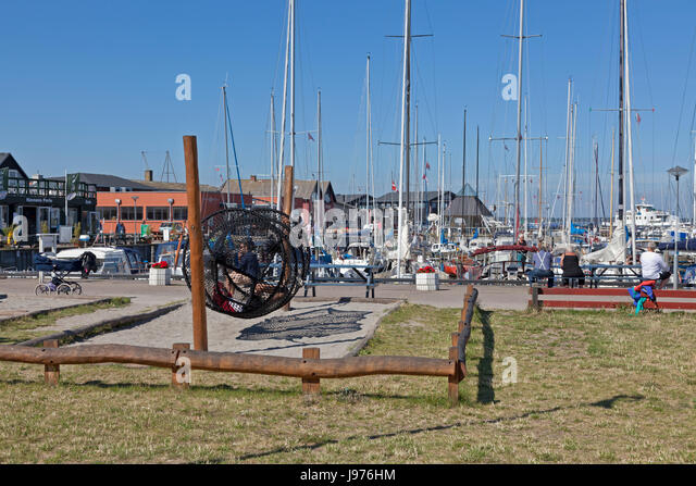 Hundested Harbour, North Sealand, Denmark - Stock Image