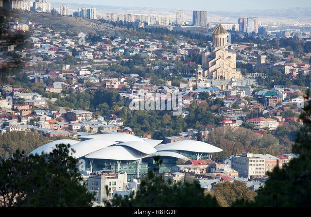 Tbilisi Tskneti Mountain Villa Tbilisi City Georgia: Tbilisi Georgia November 04 2016 Stock Photos & Tbilisi