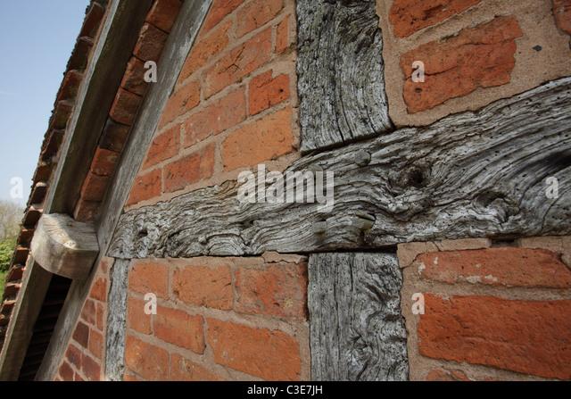 Brick Timber Frame Homes : Timber frame brick stock photos